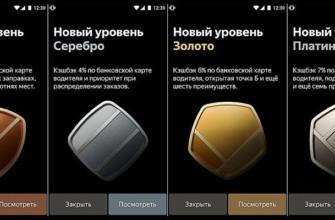 Программа привилегий Яндекс.Такси для водителей