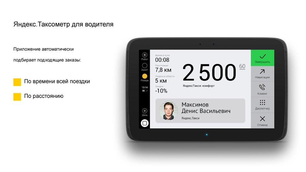 Особенности Яндекс Таксометр
